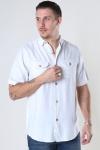 Denim project DP Linen ss shirt 002 White