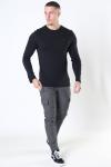Tommy Jeans Original Rib Longsleeve Tommy Black