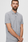 Selected SLHNEO SS POLO S NOOS Medium Grey Melange