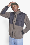 Woodbird Strukt Zip Fleece Army Green