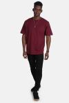 Basic Brand Oversize T-shirt Burgundy