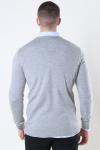 Clean Cut Merino Wool Crew Strik Light Grey Mel