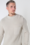 ONLY & SONS ONSBLAZE LIFE STRUCTURE MIX MOCK KNIT Pelican
