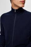 Selected SLHBERG FULL ZIP CARDIGAN B NOOS Navy Blazer Melange