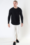 ONLY & SONS ONSJONAS LS CURVED CREW KNIT Black