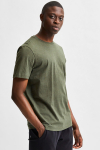 Selected SLHNORMAN180 SS O-NECK TEE S NOOS Forest Night Melange