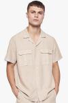Woodbird Grix Jungle Shirt Sand