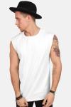 TB1562 Open Edge Sleeveless T-shirt White