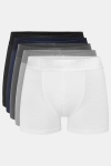 Resteröds Bambu 5-Pack Gunnar Boxershorts White/Grey/Light Grey/Navy/Black