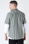 Only & Sons Onstravis Life Ss Striped Thin Oxford Re Oil Green