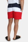 Urban Classics Color Block Badeshorts Firered/Navy/white