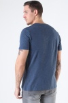 Jack & Jones JJESPLIT NECK TEE SS NOOS Navy Blazer Slim