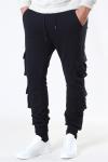 Double Pocket Terry Sweat Pants Black