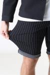 Denim Project Ponte Shorts Black White Pin