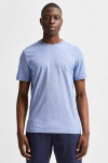 Selected SLHNORMAN180 MINI STRIPE SS TEE W NOOS Limoges Bright White