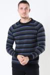 Kronstadt Liam Crew Multi Stripe Strik Black/Army