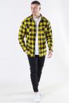 Urban Classics TB297 Checked Flanell Skjorte Black/Honey