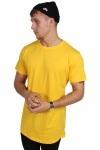 URBAN CLASSICS Shaped Long Tee Chrome Yellow