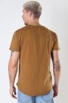 Gabba Konrad Slub S/S Tee Bronze Brown