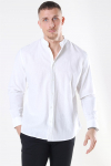 Clean Cut Cotton Linen Mao Skjorte White