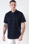 Clean Cut Copenhagen Cotton / Linnen Shirt S/S Navy