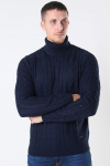 Only & Sons Rigge 3 Cable Roll Neck Dark Navy