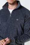 Woodbird Anton Fleece Zip Grey Melange