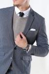 Clean Cut Milano Jersey Blazer Dark Grey Melange