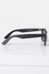 Fashion 1398 Wayfarer Solbrille Black Rubber Grey Lens