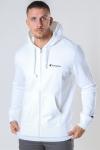 Champion Hooded Full Zip Sweartshirt White