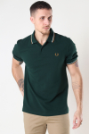 Fred Perry TWIN TIPPED FP SHIRT M61 EVRGRN/SNW/DCARA