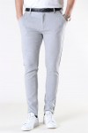 Denim Project Ponte Roma Plain Pants Light Grey Melange