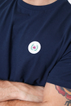 Woodbird Our Jarvis Patch T-shirt Navy