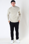 ONLY & SONS ONSLUKE LIFE HIGH NECK  ZIP KNIT Pelican