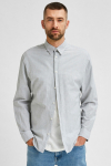 Selected SLHSLIMNEW-LINEN SHIRT LS W NOOS Sea Spray Stripes