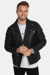 Selected Scott Læder Biker Jakke Camp Black