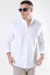 Clean Cut Cotton Linen Skjorte White