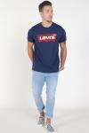 Levis Set-in Neck Graphic Dress Blue
