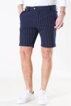 Les Deux Como Light Pinstripe Shorts Dark-Navy/Provincial Blue