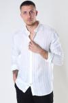 Kronstadt Johan Linen stripe shirt White