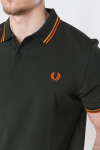 Fred Perry Twin Tipped Fp Shirt Hgrn/Brtgold/Rust