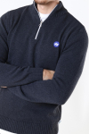 Kronstadt Liam Half Zip Recycle Strik Charcoal