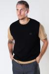 Woodbird Karl Wool Vest Black