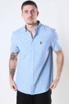 Lyle & Scott Short Sleeve Light Weight Slub Oxford Shirt Riviera