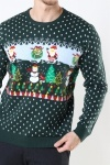 Only & Sons Xmas 7 Funny Top Strik Pine Grove
