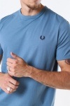 Fred Perry Ringer T-Shirt Blue Estate