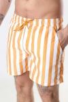 Clean Cut Copenhagen Swim Shorts Pale Orange Striped