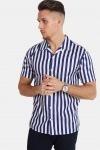 Kronstadt Cuba S/S Gr.78 Skjorte White/Dark Blue