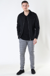 Jack & Jones JPRBLAPHIL SWEAT JACKET SN Black SLIM FIT - SOLID