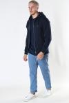 Jack & Jones JJESOFT BASIC SWEAT ZIP HOOD NOOS Navy Blazer REG FIT